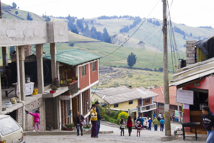 Streets of Salinas de Guaranda, Ecuador